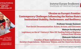 "Seminarium ""Ukraine on Europe's Frontier"""