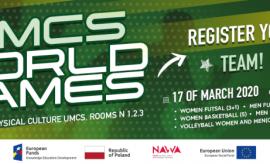 UMCS World Games - регистрация уже открыта!