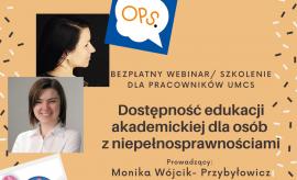 Szkolenie/webinar: Dostępność edukacji akademickiej dla...