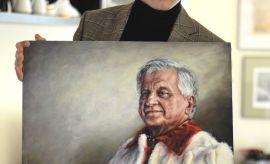 portret profesora Wiesława Andrzeja Kamińskiego