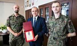Przedstawiciele Legii Akademickiej gościli w Rektoracie