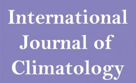 Publication in high impact journal - Int. J. of Climatology