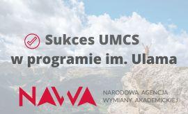 Sukces w programie im. Ulama NAWA!