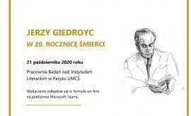 """Spotkanie """"Jerzy Giedroyc. W 20. rocznicę śmierci"""""""