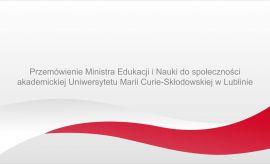 Przemówienie Ministra Edukacji i Nauki do społeczności...