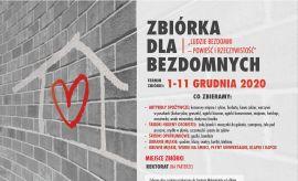 Zbiórka darów na rzecz osób bezdomnych - 1-11 grudnia
