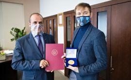 Spotkanie JM Rektora z najlepszym absolwentem UMCS
