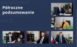 Półroczne podsumowanie działalności władz rektorskich UMCS