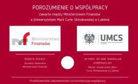 Porozumienie między Ministerstwem Finansów a...