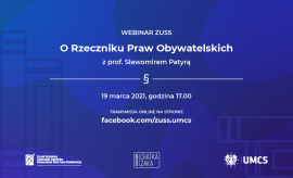 Webinar ZUSS: O Rzeczniku Praw Obywatelskich z prof....