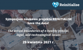 Sympozjum naukowe projektu REINITIALISE- Save the date!