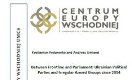 """""""Between Frontline and Parliament: Ukrainian..."""