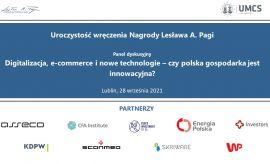 Uroczystość wręczenia Nagrody Lesława A. Pagi / Panel...