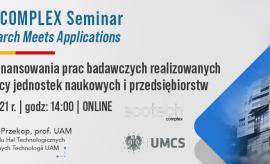 ECOTECH-COMPLEX Seminar. Where Research Meets Applications