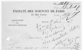 Kserokopie listów Marii Curie-Skłodowskiej
