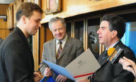 Spotkanie władz UMCS ze stypendystami MNiSW (13.01.2010)