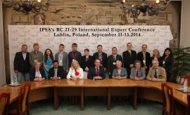 IPSA`s RC21-29 international expert conference