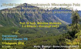 Wykład prof. Wiesława Mułenko