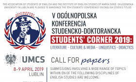 """Zgłoszenia na konferencję """"Students' Corner..."""