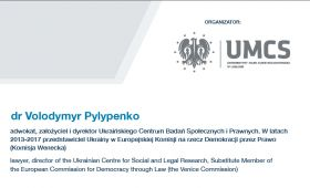 "Volodymyr Pylypenko to speak on ""Hybrid war against..."