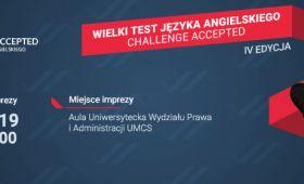 """Wielki Test Języka Angielskiego """"Challenge Accepted"""""""
