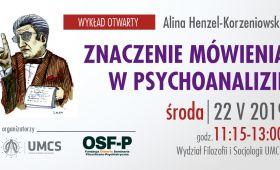 Wykład: Znaczenie mówienia w psychoanalizie
