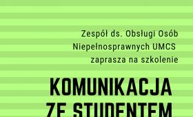 """Szkolenie """"Komunikacja ze studentem w kryzysie"""""""