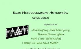 Koło Metodologiczne Historyków na Kozienaliowej Gali...