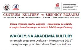 Wakacyjna Akademia Kultury – warsztaty reportażu