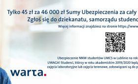 Ubezpieczenie NNW - studenci/doktoranci/pracownicy...