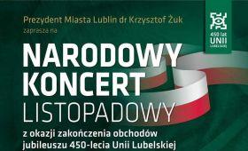 Zaproszenie na Narodowy Koncert Listopadowy