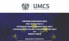 European Centre UMCS invites to lecture, double diploma...