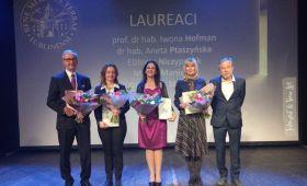 Prof. dr hab. Iwona Hofman nagrodzona