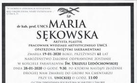 Uroczystości pogrzebowe Śp. dr hab. Marii Sękowskiej,...