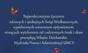 Życzenia świąteczne Władz Dziekańskich Wydziału Prawa i...