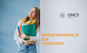 Ważne informacje dla studentów