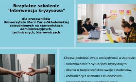 """Szkolenie """"Interwencja kryzysowa"""" dla 30 osób"""