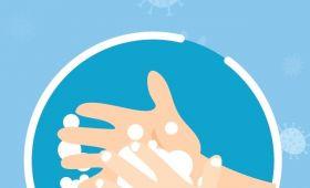 Stojaki do dezynfekcji rąk na Wydziale Humanistycznym