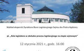 Wykład ekspercki Dyrektora Biura Legislacyjnego Sejmu dra...