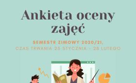 Ankiety Oceny Zajęć za semestr zimowy roku ak. 2020/2021