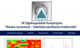"""IX Ogólnopolskie Sympozjum """"Nauka i przemysł – lubelskie..."""