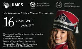 Zaproszenie na koncert dyplomowy Adrianny Ostrowskiej