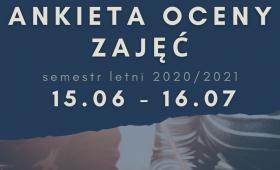 Ankieta Oceny Zajęć w semestrze letnim 20/21