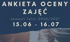 Ankieta Oceny Zajęć w semestrze letnim 2020/2021