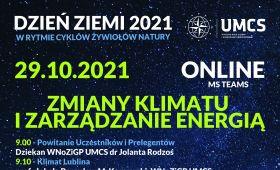 Dzień Ziemi 29.10.2021 - Zmiany klimatu i zarządzanie...