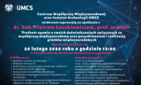 Spotkanie z dr. hab. Piotrem Łuczkiewiczem, prof. uczelni