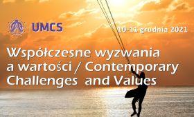 """""""Współczesne wyzwania a wartości"""" - zaproszenie na..."""