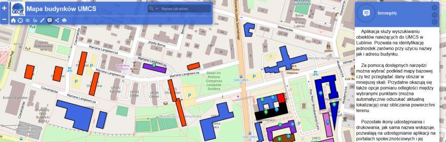 Mapa budynków UMCS