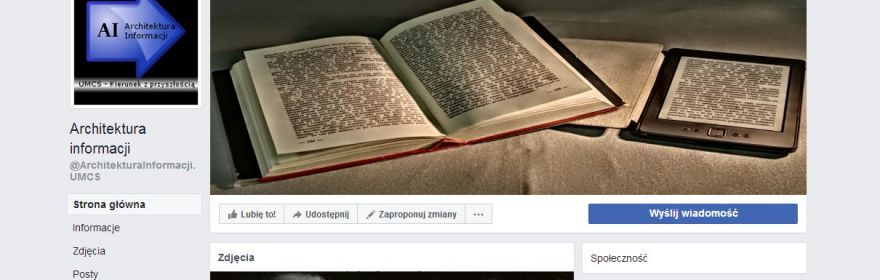 Architektura informacji na FB