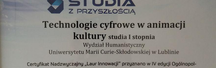 """Certyfikat Akredytacyjny """"Studia z..."""